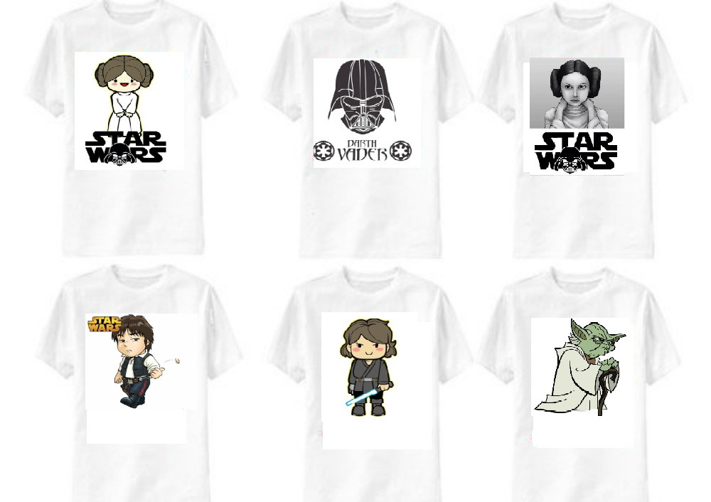 c965c6035 kit 6 camisetas star wars familia no Elo7