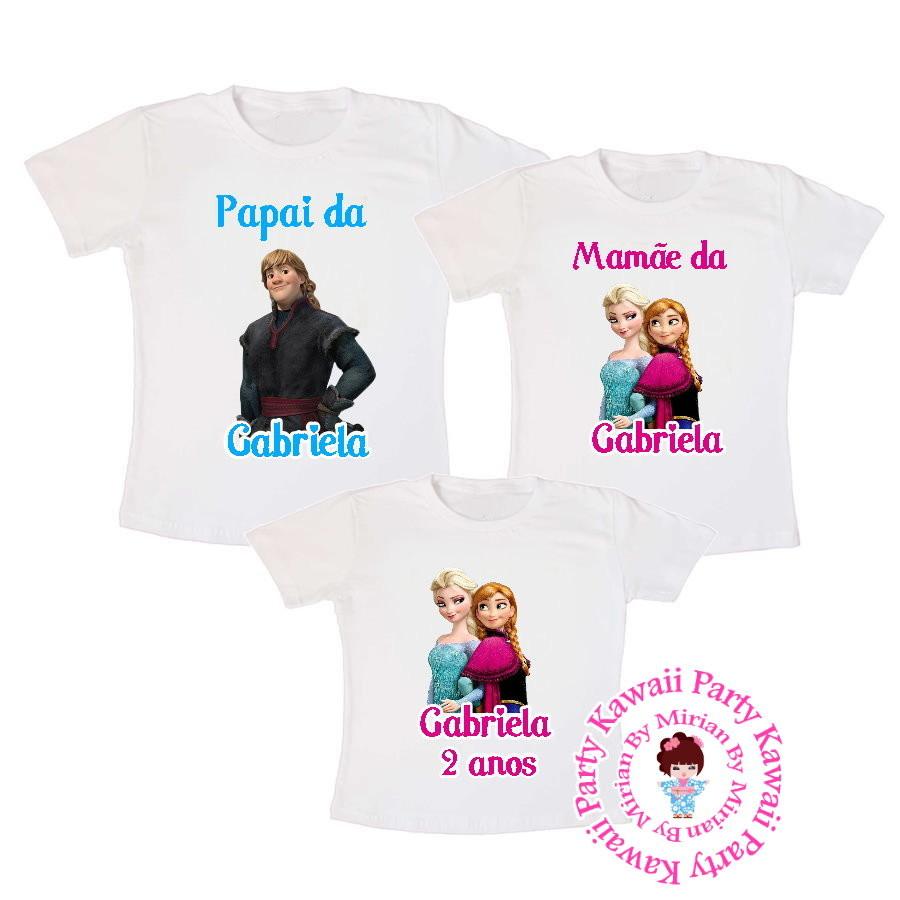 55fbe5f691 Kit camiseta personalizada Frozen no Elo7