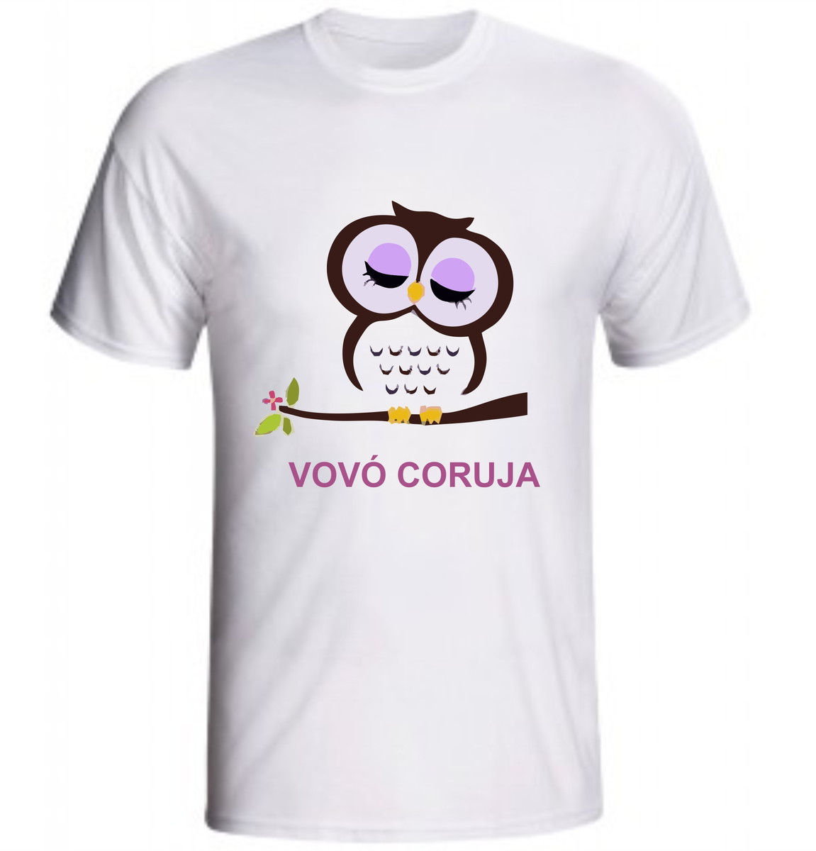 bdfead553 Camiseta Vovó Coruja no Elo7 | Lv Adesivos e Estampas (74D776)