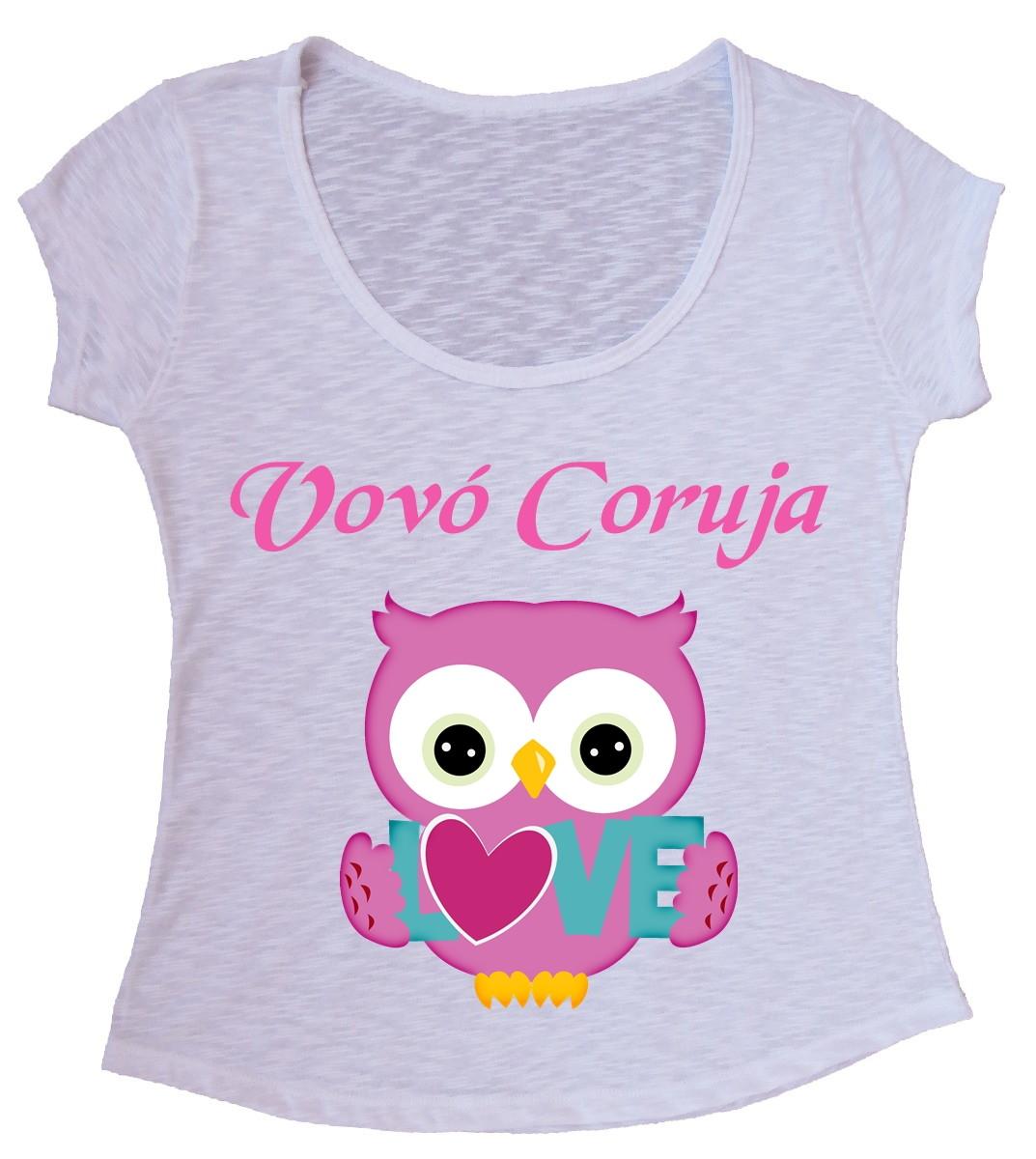 c2176f97e8 Blusa T-shirt Vovó Coruja no Elo7