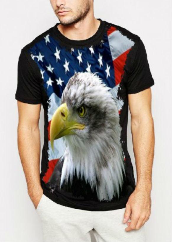 Camiseta Águia Estados Unidos Masculina no Elo7  833c6b5ea8507