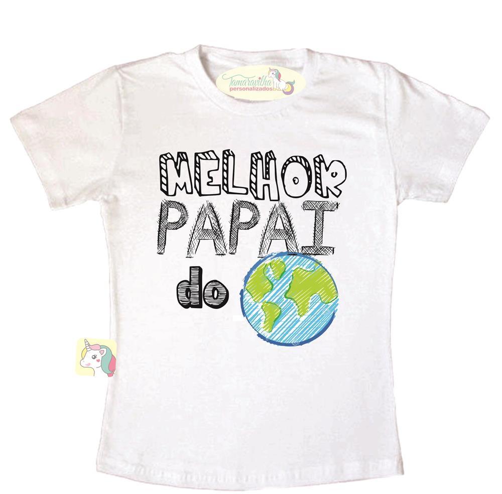 26d26a310 Camiseta melhor pai do mundo no Elo7