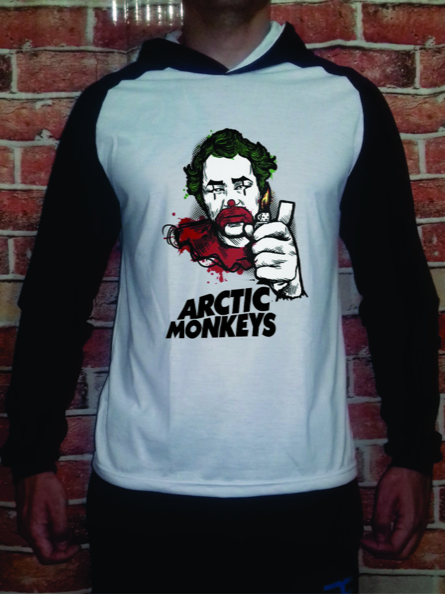 Camiseta Arctic Monkeys Palhao Raglan No Elo7 Uc Camisetas 74f9ab Hoodie Zoom