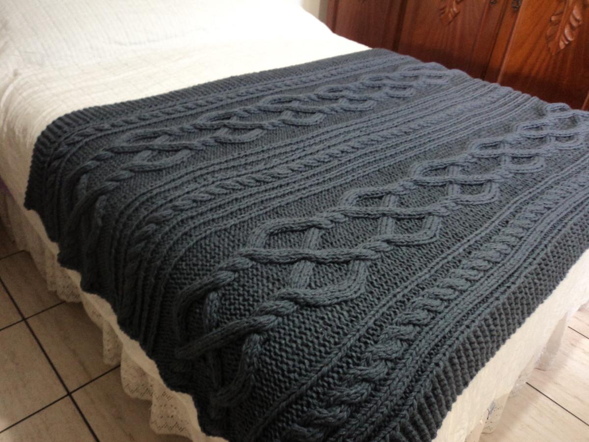 Manta de tric irland s para cama queen atelier vanessa - Ikea mantas para camas ...