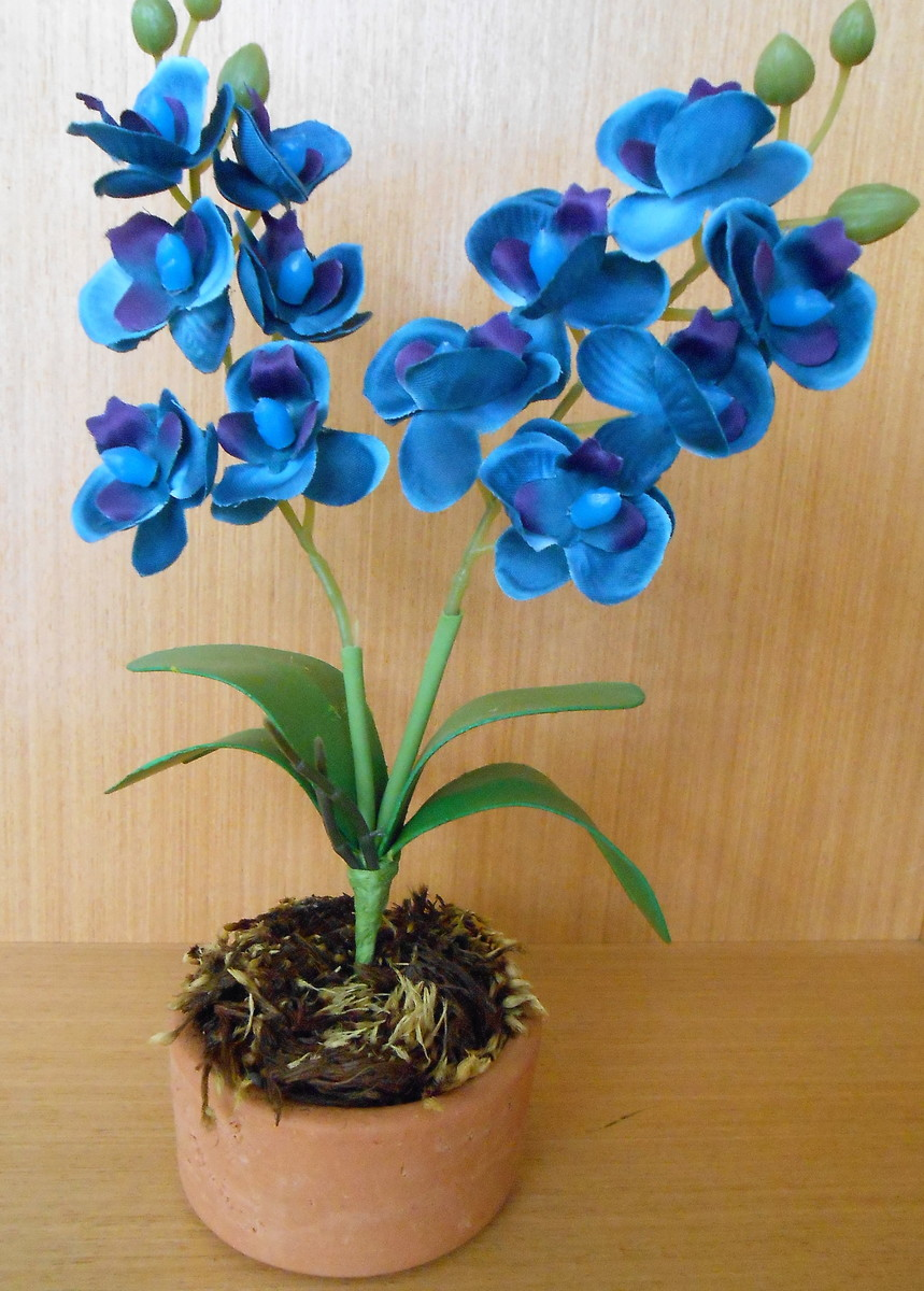 Bonsai Orquídea Azul Artificial