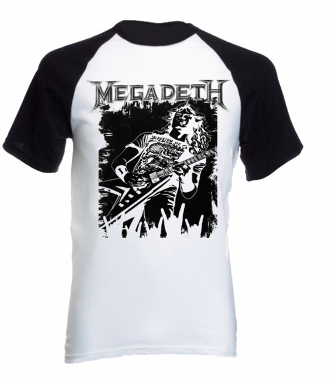 f9ec03aa42005 Camiseta Megadeth raglan 02 no Elo7