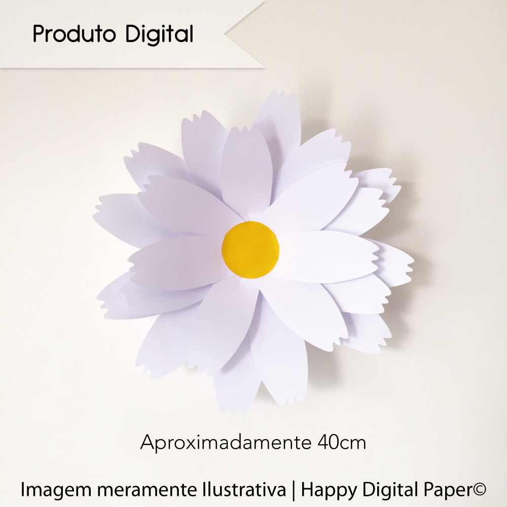Molde Digital P Margarida Padrao No Elo7 Happy Digital Paper