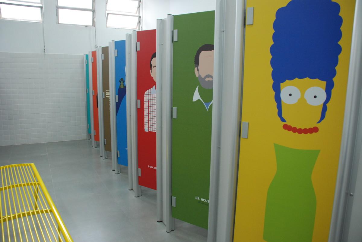 Adesivo para Portas Personagens  Aarte Decoor  Elo7 -> Decoracao Para Porta De Banheiro De Escola