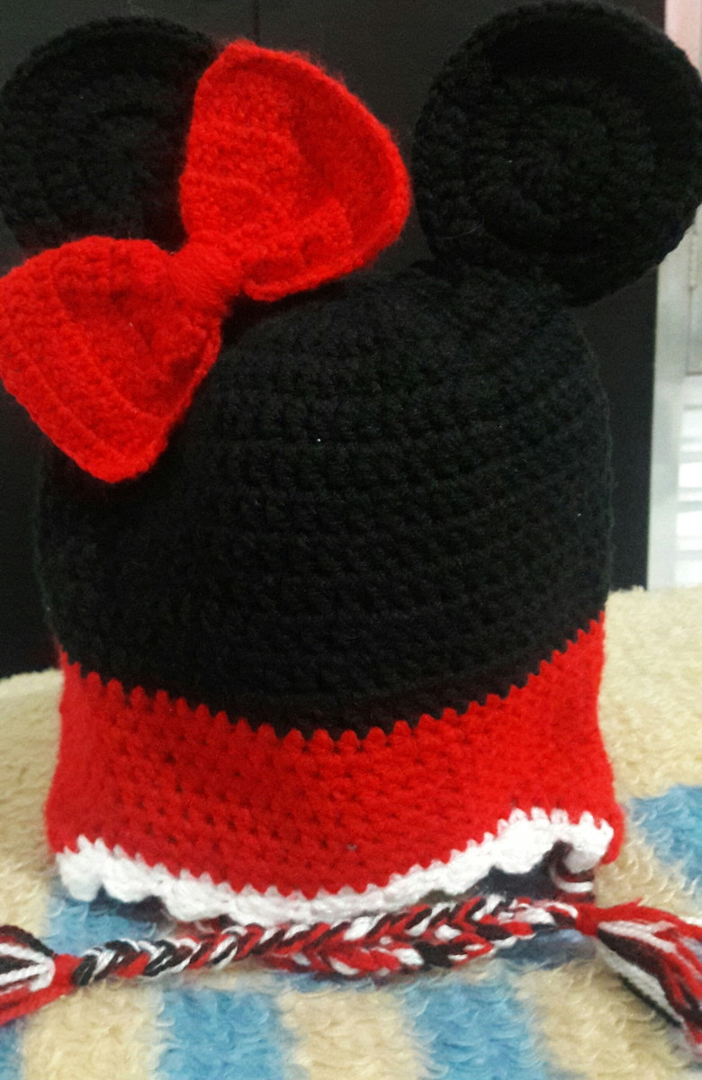 Touca Minnie com tapa orelha no Elo7  765e7dc3741