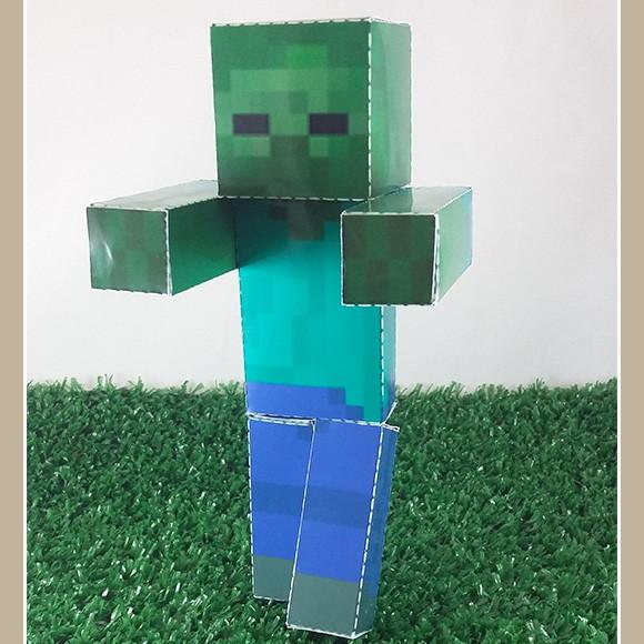 zumbi minecraft em papercraft no elo7 drika design 75e81b