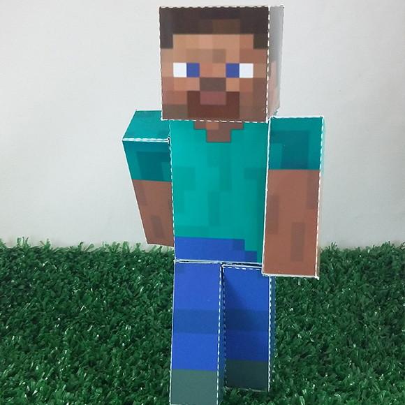 steve minecraft em papercraft no elo7 drika design 75e855