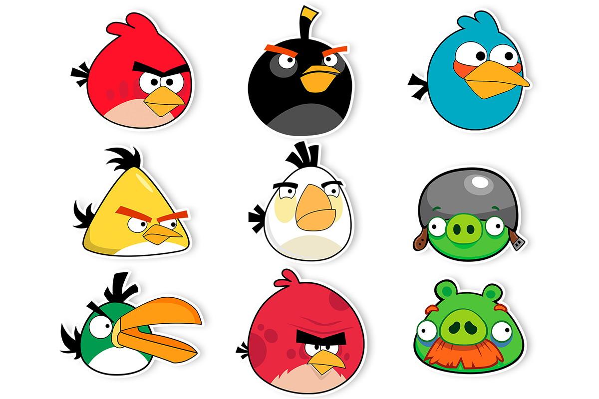 Angry Birds: Aplique Angry Birds Em Papel 3,5 Cm No Elo7