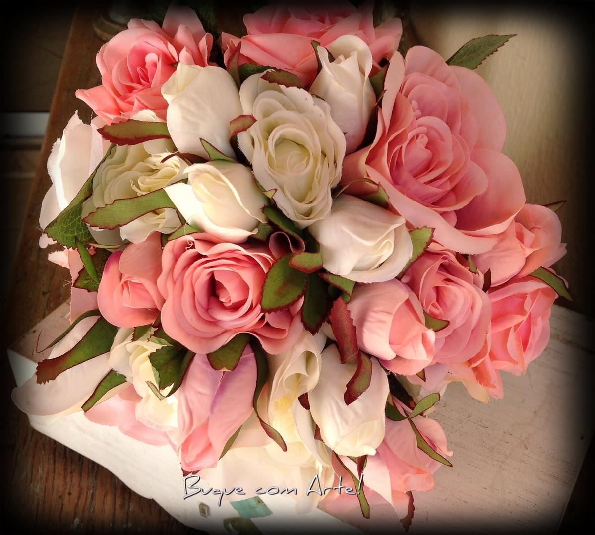 Buque com Rosas Romântico!! no Elo7 | Buque com Arte! (76153F)