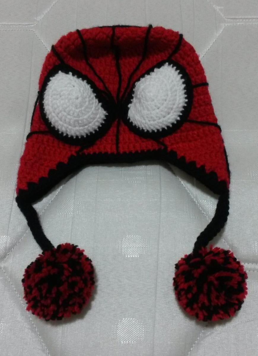 Touca homem aranha em crochê no Elo7  7a8ff0a7d17