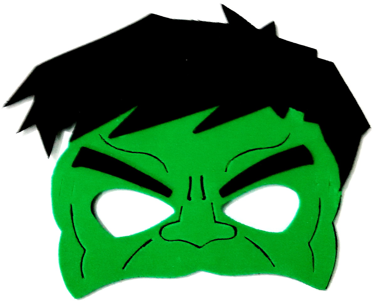 M scara eva hulk super her is no elo7 art leo brindes for Avengers mask template