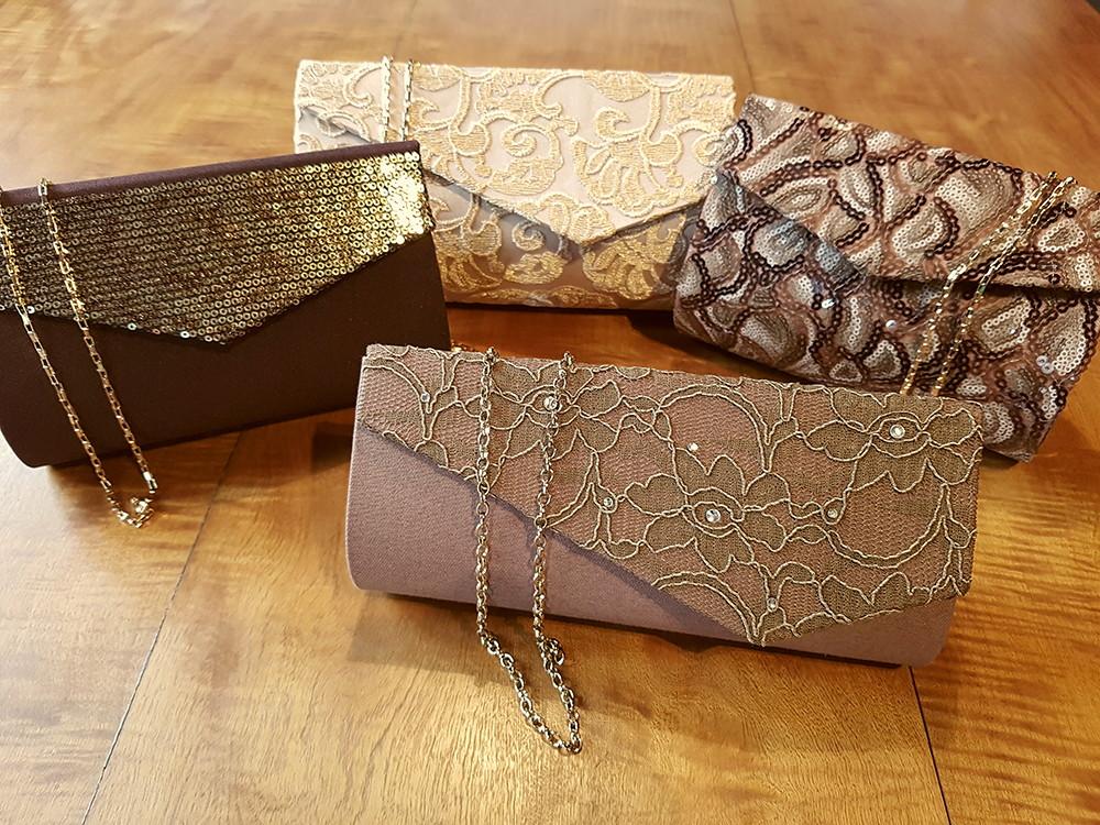Bolsa De Mão Para Festa Dourada : Bolsa clutch festa paet? marrom ref bolsas