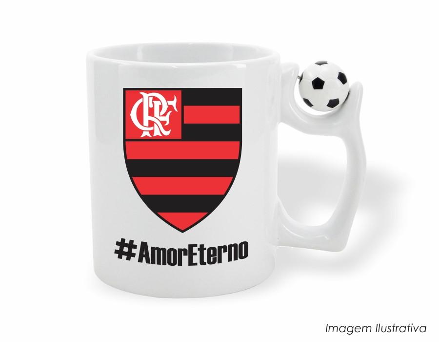 1517f642b5 Caneca Mug com Alça de Bola Flamengo no Elo7