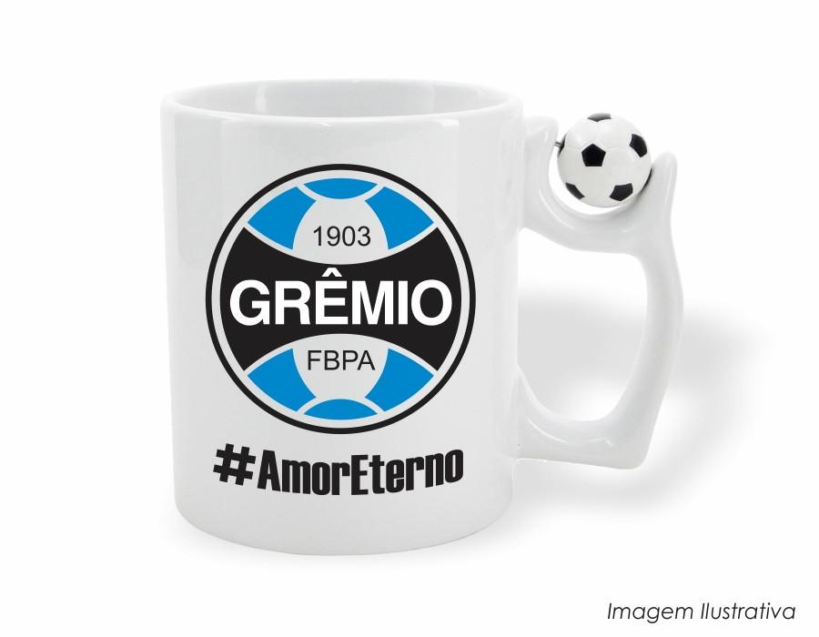 18e6fb89b9 Caneca Mug com Alça de Bola Grêmio no Elo7