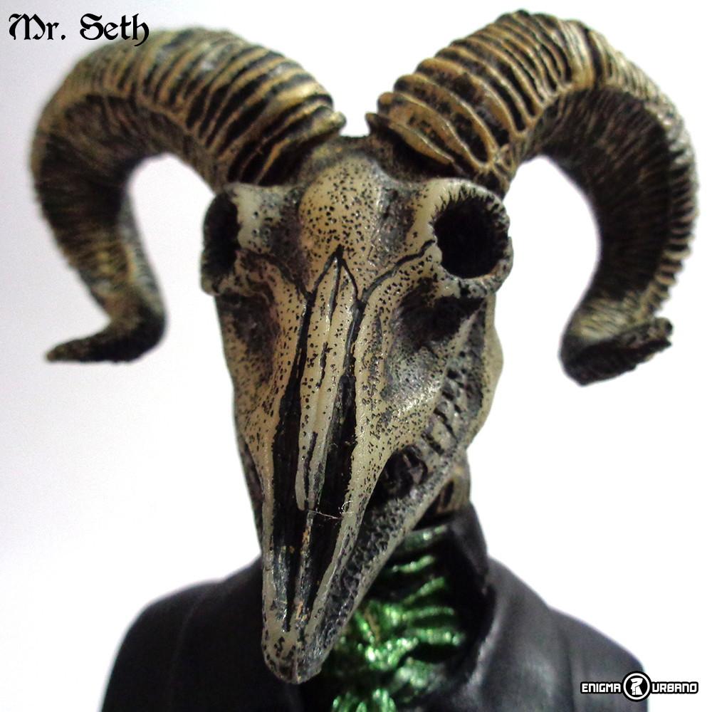 Cr U00e2nio De Bode Caveira Cabe U00e7a Mr  Seth No Elo7