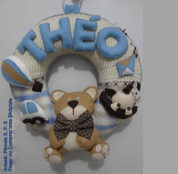 1af4f0269933c Enfeite Para Porta Maternidade Guirlanda Tema Brinquedos - Classy World