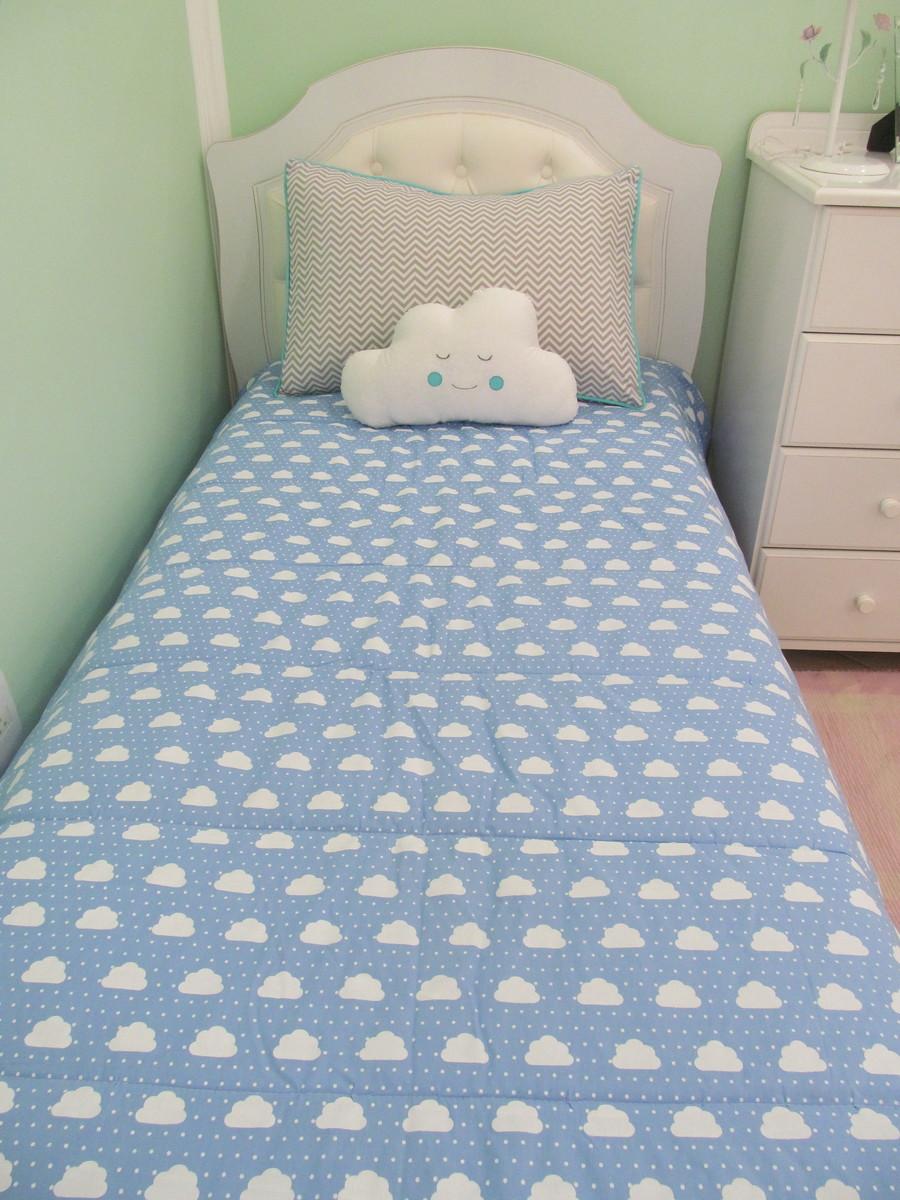bdfbf12574 Kit para cama de solteiro Nuvem 3 pçs no Elo7