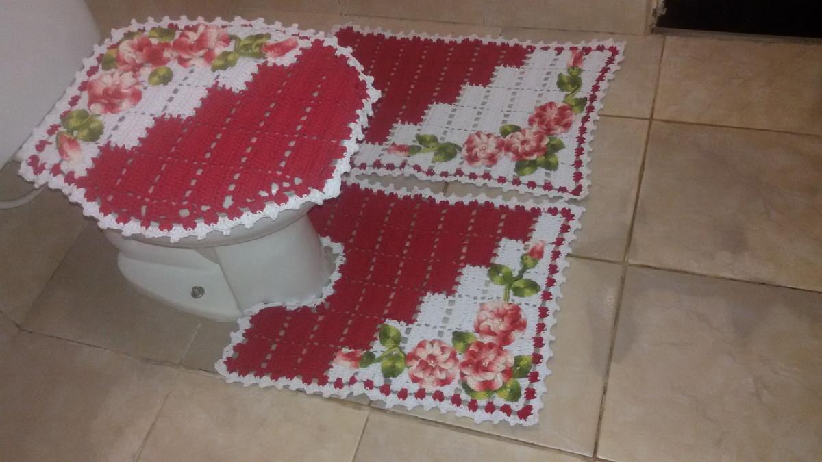 392b077fa Jogo de Banheiro Dual Color 03 peças no Elo7