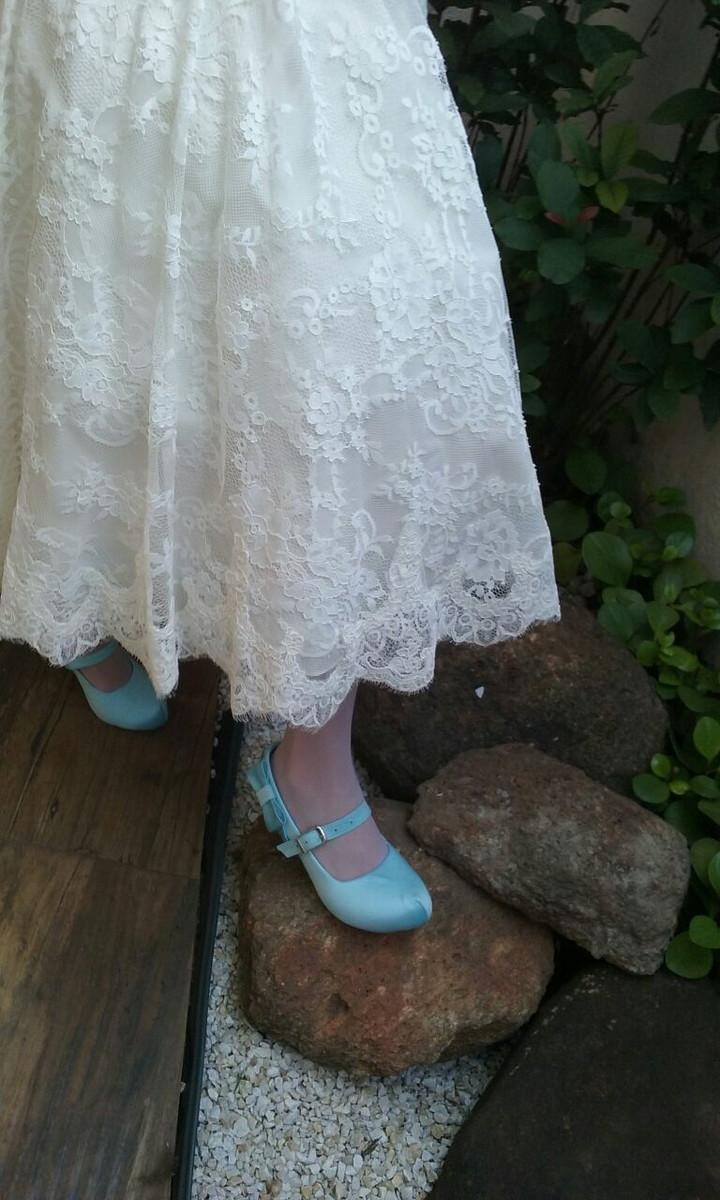b73e556e8e1 Sapato de Noiva Azul no Elo7