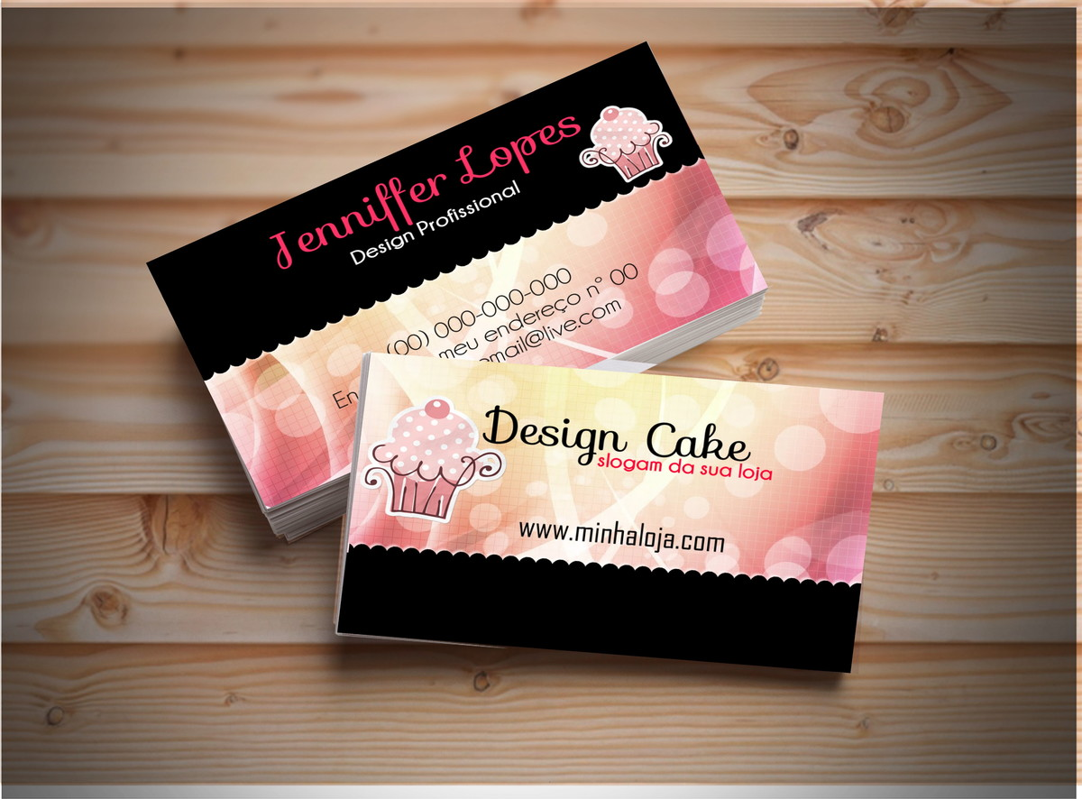 Fabuloso Cartão De Visita #001 rosa c/ 500 und no Elo7 | Criando Layouts  EK05