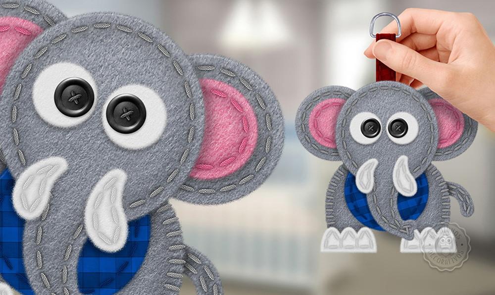 Armarios Homecenter Colombia ~ Molde para Elefante em Feltro Moldes Bichinhos Decorativos Elo7