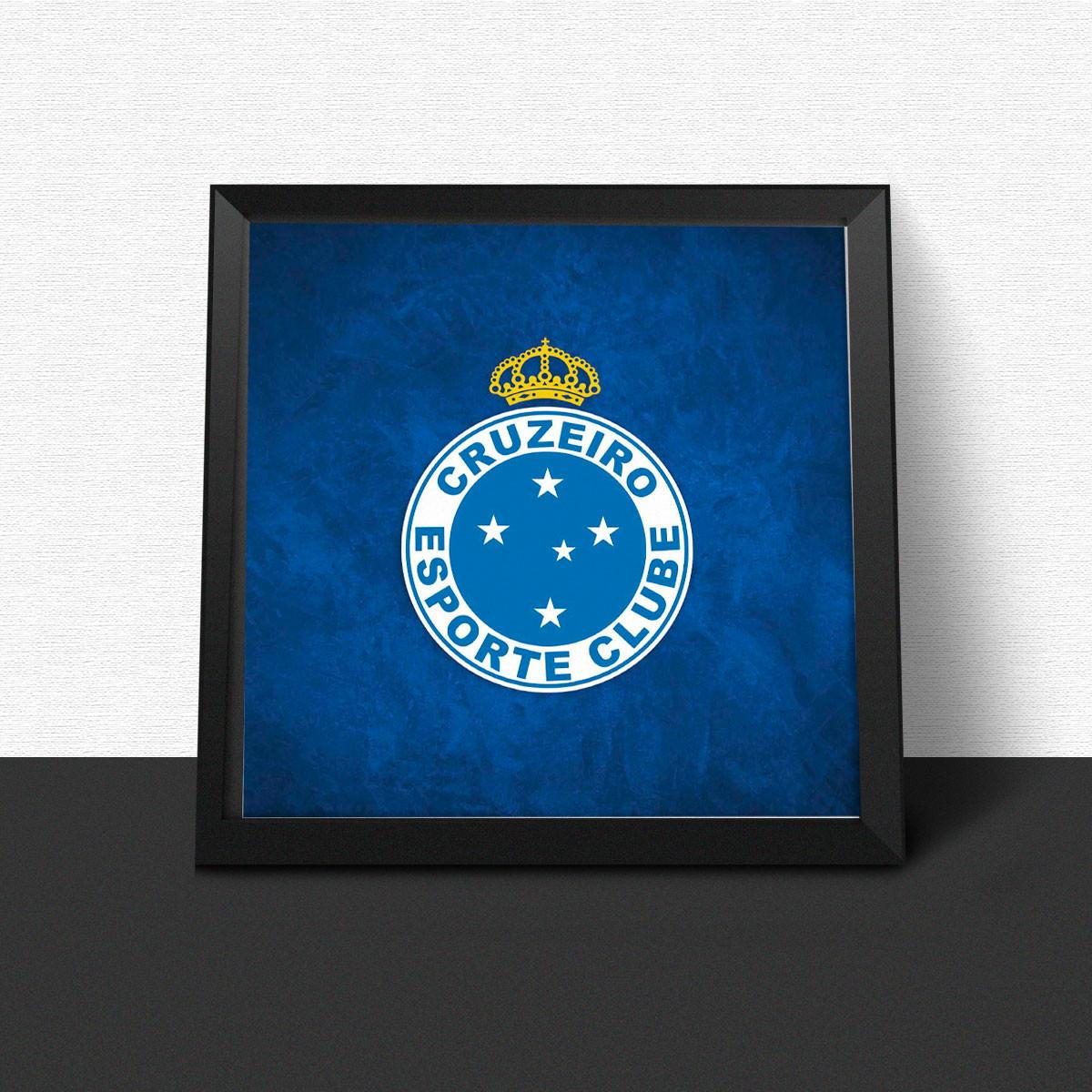 5d1bc2627225e Quadro Cruzeiro Futebol Clube no Elo7