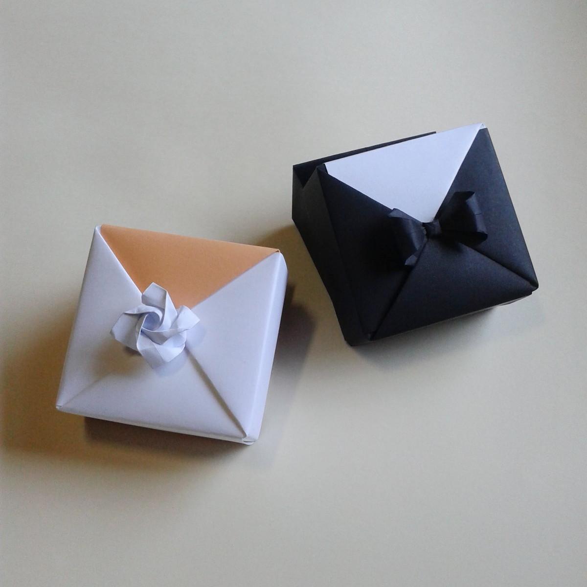 Caixa De Origami Noivos Par No Elo7 Naiane Origamis 77befc