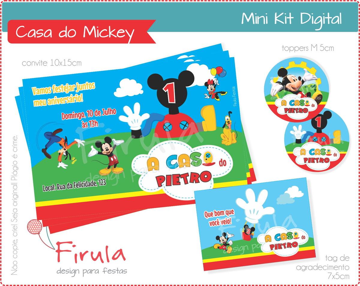 Mini Kit Digital Casa do Mickey no Elo7  95ba6952220ca