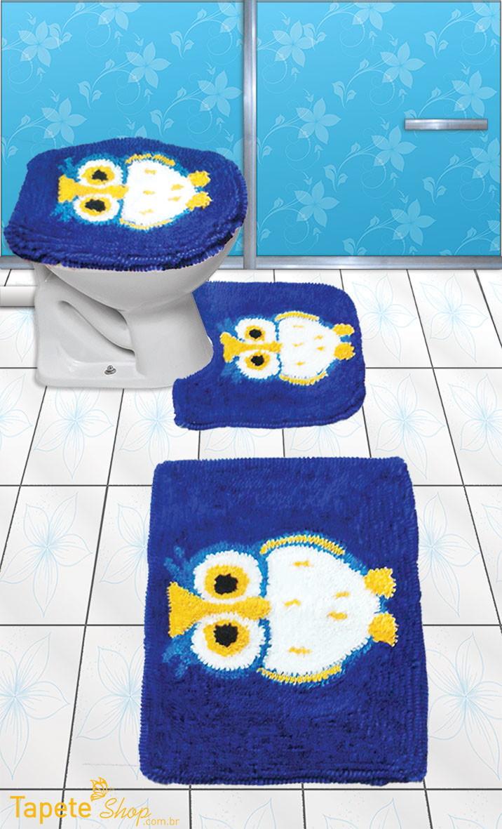 Jogo De Tapetes Para Banheiro Desenho Coruja Frufru No Elo7 Tapete  -> Tapetes Desenhos