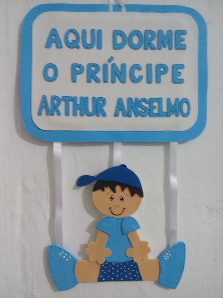 Enfeite De Porta De Eva Menino Pukununinha Artesanatos Elo7 ~ Enfeites Para Quarto De Bebe Em Eva