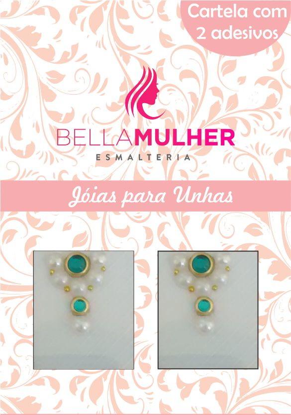 725d99c84 Jóias para Unhas Pedrarias - Ref. JP03 no Elo7 | Bella Mulher ...