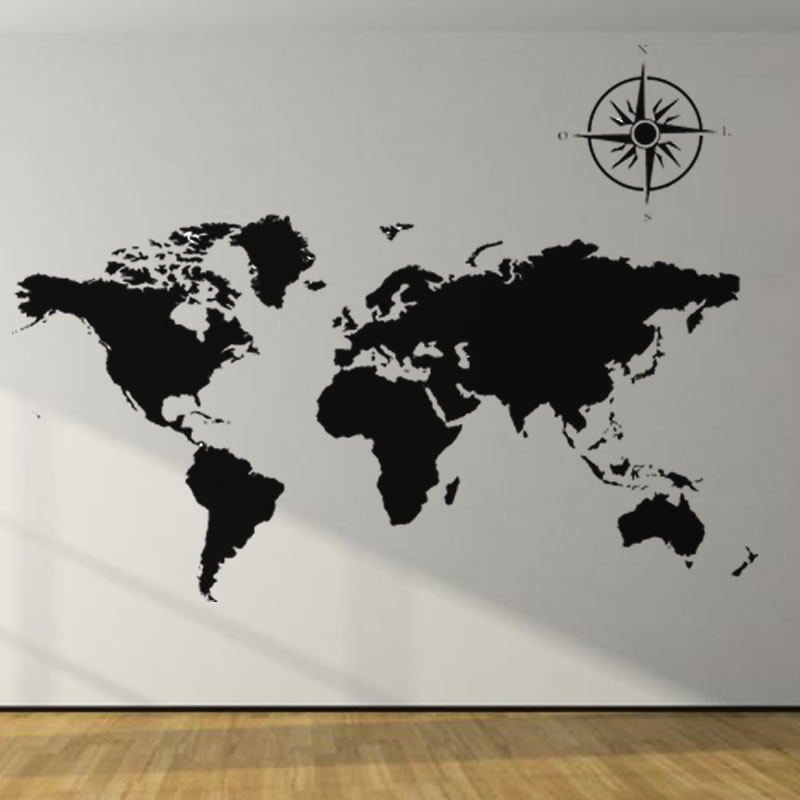 Artesanato Garrafa Pet Para O Natal ~ Adesivo decorativo Mapa Mundi no Elo7 LD Creativity Store (78AA55)