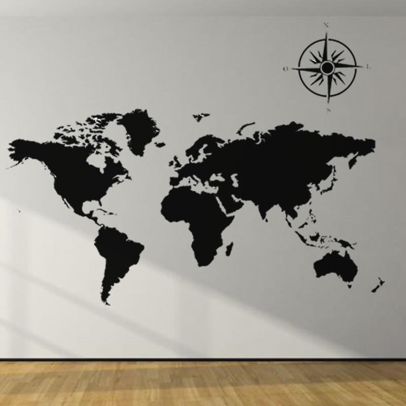 Adesivo De Parede Bailarina Mercado Livre ~ Adesivo decorativo Mapa Mundi no Elo7 LD Creativity Store (78AA55)