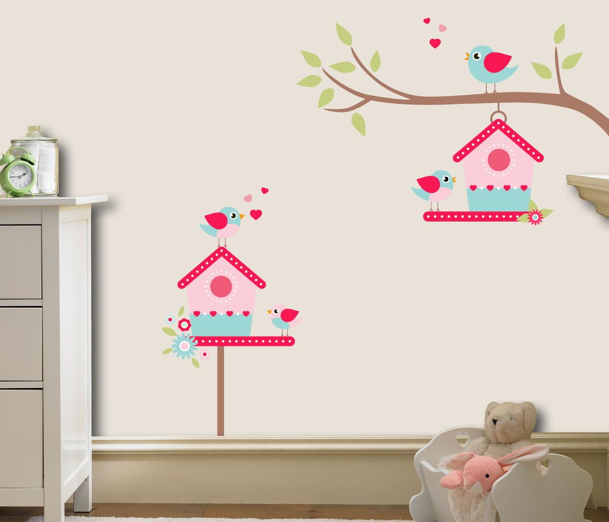 Adesivo De Piso Madeira ~ adesivo infantil casinha de passarinhos no Elo7 Quarto de Criança Lojadecoreacasa (78CA51)