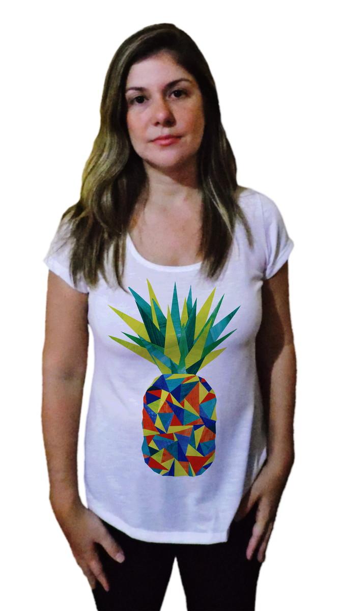 9e0f2c646 T-shirt Camiseta Feminina Abacaxi color no Elo7 | vinte um ...