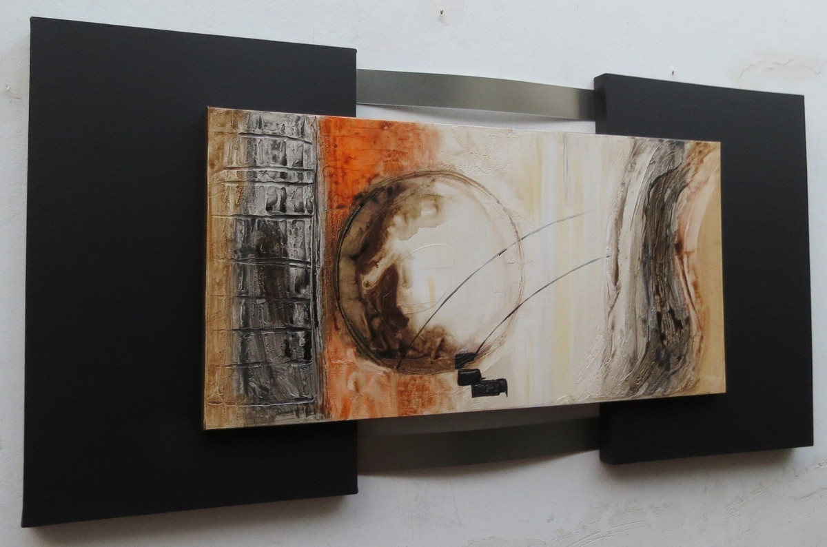 Quadro abstrato moderno tam: 70x150cm no elo7 galeria portinari