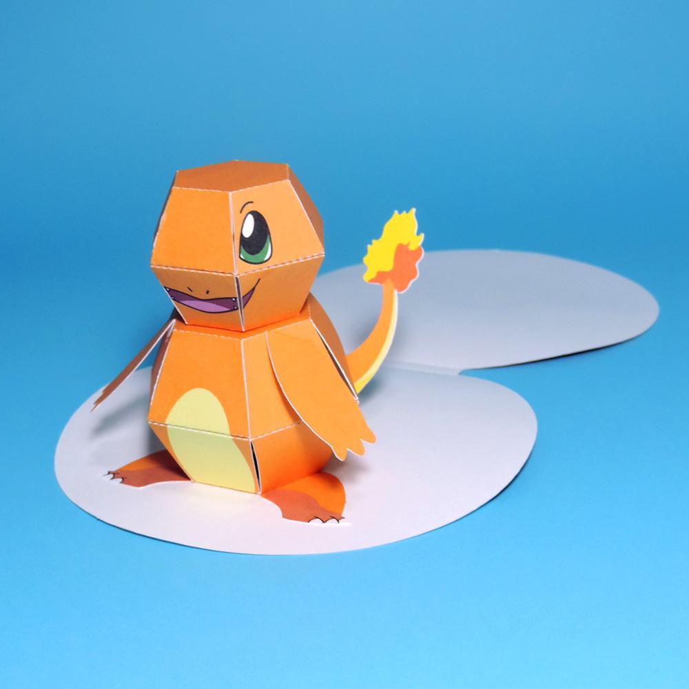 Zoom Papercraft Pokemon Charmander