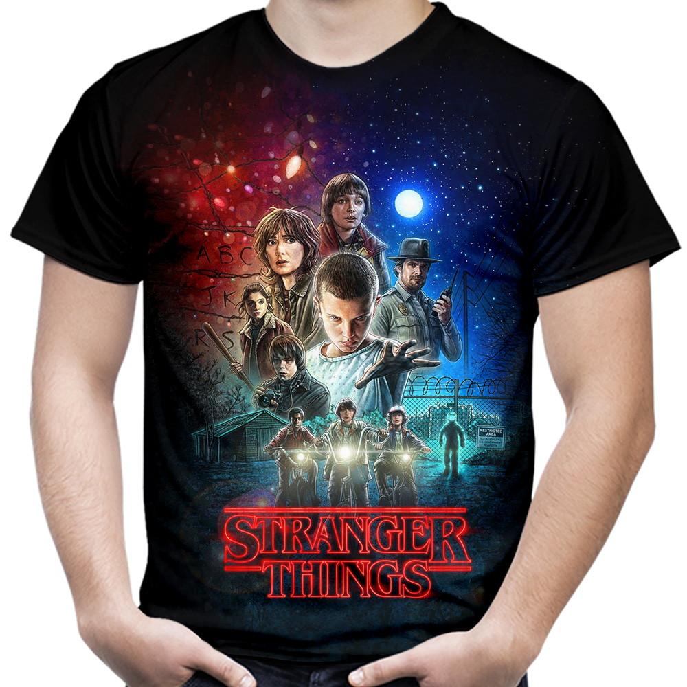 Camiseta Masculina série Stranger Things no Elo7  8b5e9cf4f5c