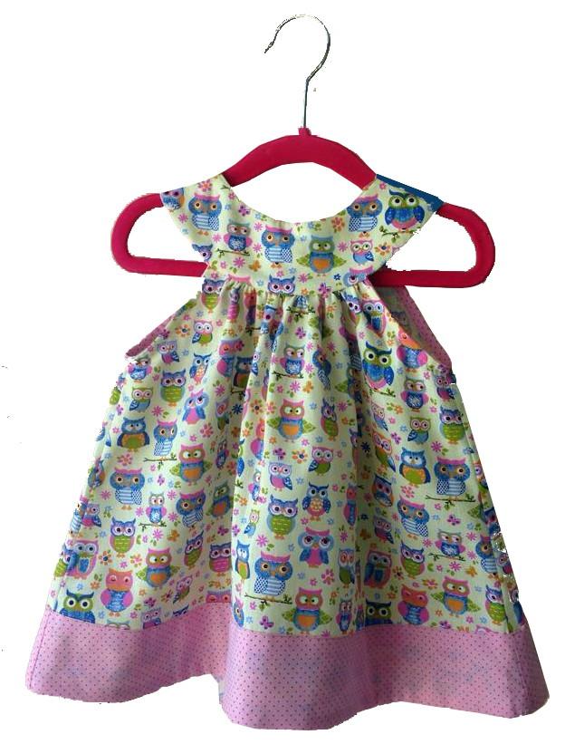 Vestido Bebê Estampado 100 Algodão