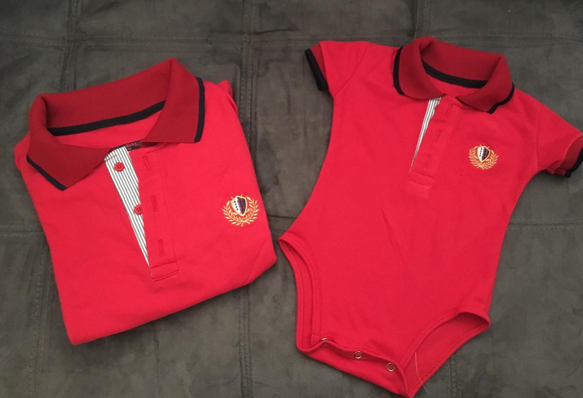 Tal Pai Tal Filho Camisa Polo Vermelha no Elo7  f48abd5910a8e