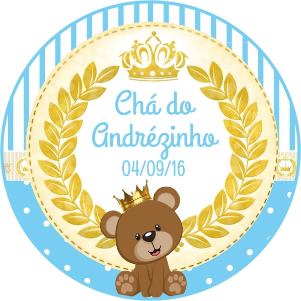 Armario De Cozinha Em Ingles ~ Tag e Adesivo Urso Principe no Elo7 Top mimos (799CDE)