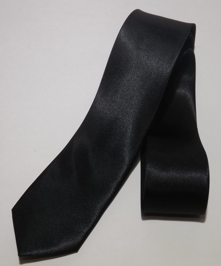 973a0fd724b Gravata Preta Slim Fit Fosca no Elo7