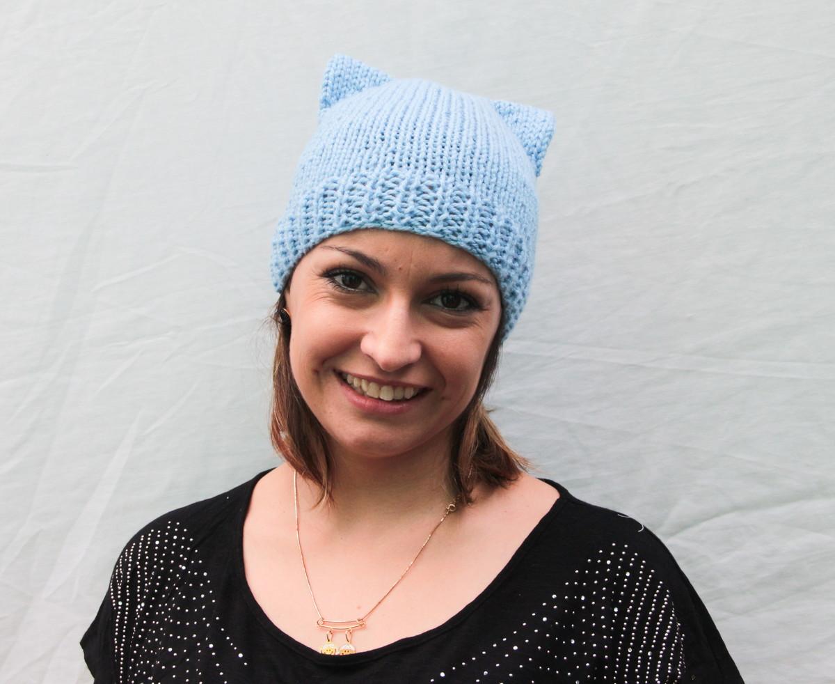 Touca gatinho azul cat hat no Elo7  2e003eab326