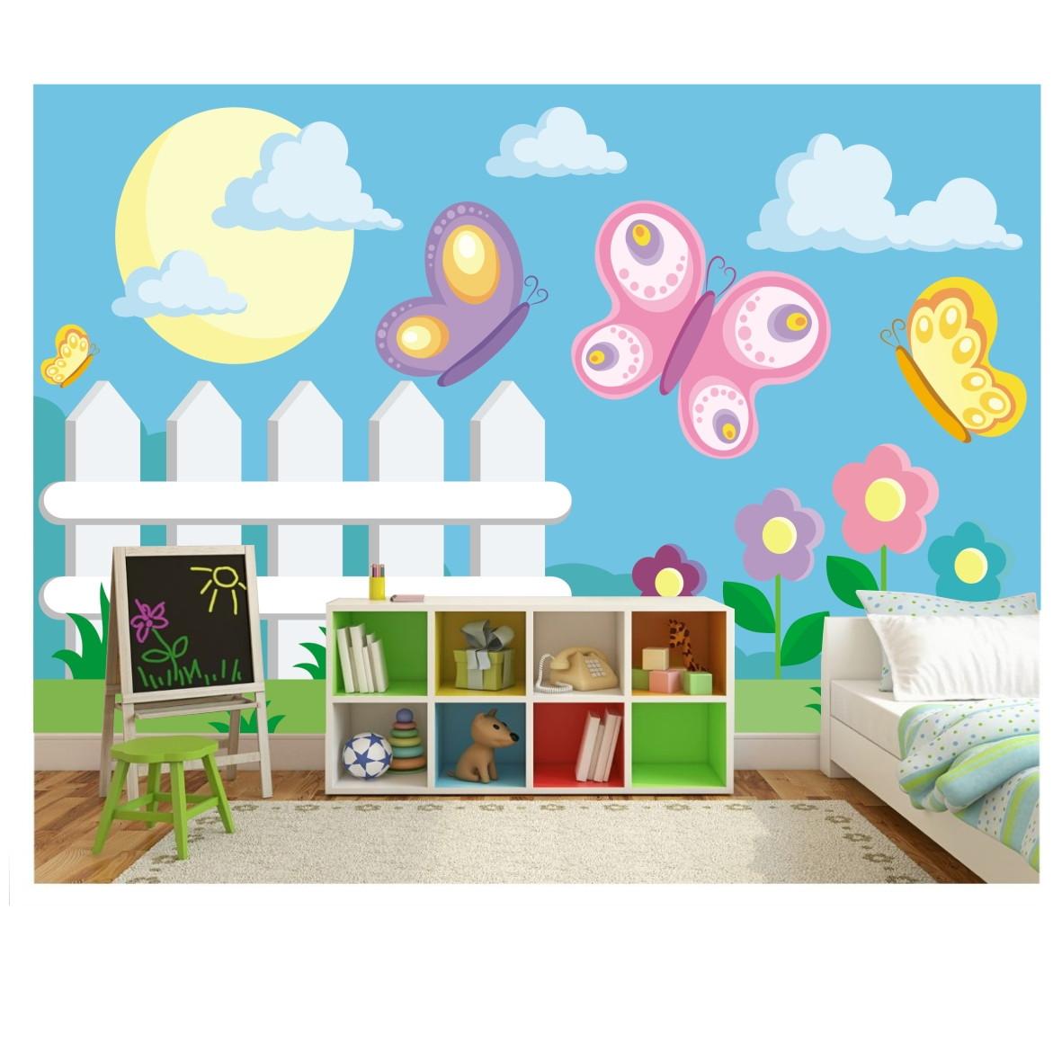 Adesivo infantil mural borboletas 6m 17 no elo7 - Mural pared infantil ...