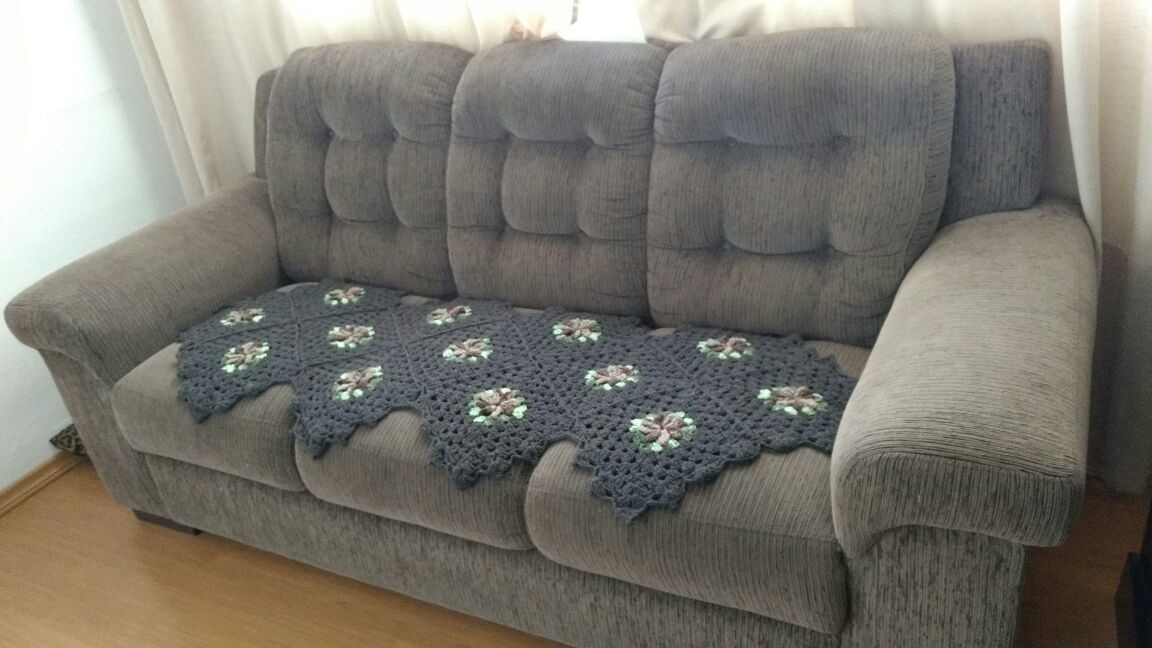 Manta de sof 1 p s charme croch elo7 - Manta de sofa ...