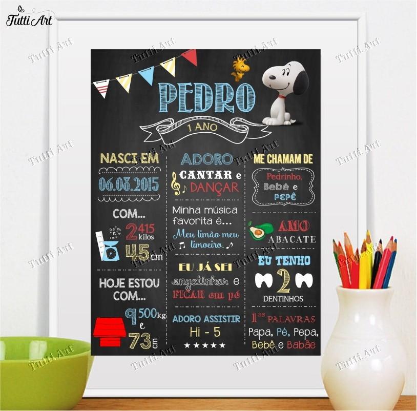 Chalkboard Quadro Snoopy Digital